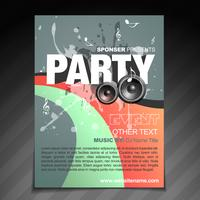 design de brochura de festa vetor