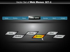 menu da web vetor