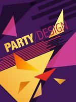 design de brochura de festa abstrata vetor