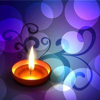 fundo colorido de diwali vetor