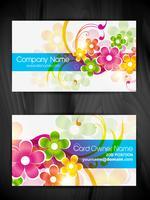 design de cartão de visita bonito design floral vetor