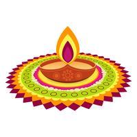 festival de diwali colorido vetor