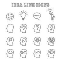 ícones de linha de ideias vetor