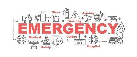 banner de vetor de emergência