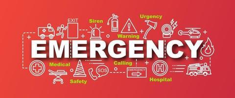 banner moderno de vetor de emergência