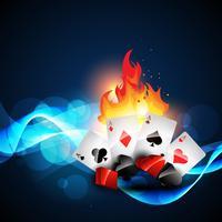 cartão de jogo do casino vetor