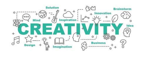 banner de vetor de criatividade
