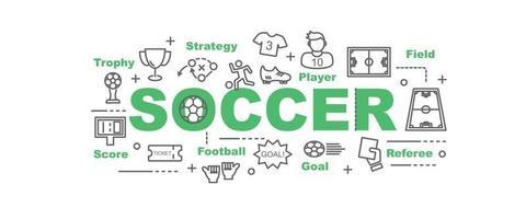 banner de vetor de futebol