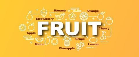 banner moderno de vetor de frutas