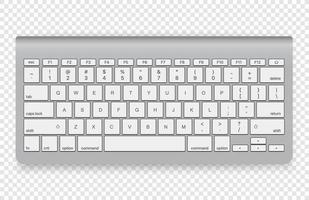 teclado sem fio moderno isolado vetor