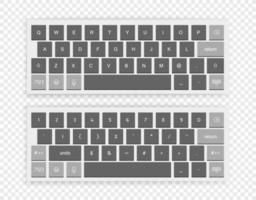 conjunto isolado de teclado sem fio moderno vetor