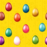 ovos de páscoa no padrão de cordas vetor