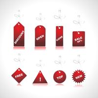 etiquetas de preço de vetor