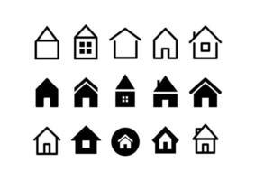 coleção de vetores de diferentes ícones da web de casa
