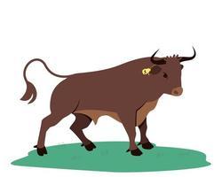 forte símbolo do touro de 2021 vetor