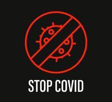 pare de cobiça. campanha de proteção contra coronavírus vetor