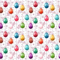 feliz Páscoa feriado padrão sem emenda com ovos coloridos vetor