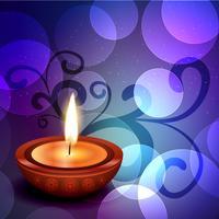 fundo bonito de diwali vetor