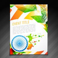 cartão de bandeira indiana vetor