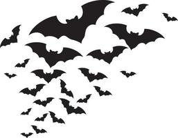 ilustração vetorial de bando de morcegos vetor