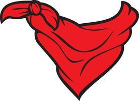 ilustração vetorial de bandana vermelha vetor