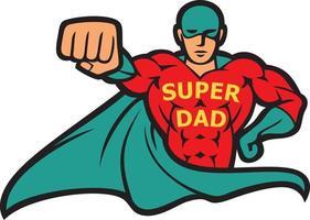 ilustração vetorial super-herói pai vetor