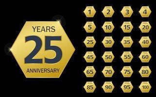 projeto do logotipo da comemoração do aniversário vetor