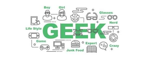 banner de vetor geek