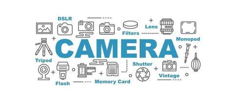 banner de vetor de câmera