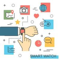 desenho vetorial smartwatch vetor