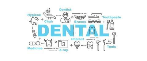 banner dental vetor