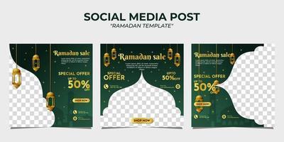 modelo de postagem em mídia social de venda do ramadã vetor