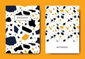 modelos de página de capa abstrata de terrazzo. layouts abstratos universais. aplicável para cadernos, planejadores, brochuras, livros, catálogos vetor
