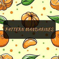 fundo transparente com tangerinas. Ilustração vetorial para seu design. vetor