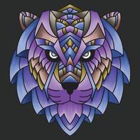 ornamento colorido abstrato doodle arte tigre ilustração dos desenhos animados conceito vetor. adequado para papel de parede, clip-art, plano de fundo, cartão, ilustração de livro, design de t-shirt, adesivo, capa, etc. vetor