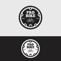 modelo de design de vetor de logotipo de bicicleta