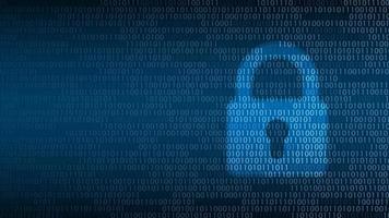 segurança da tecnologia cibernética. bloqueio na tela digital, design de plano de fundo de proteção de rede, ilustração vetorial vetor