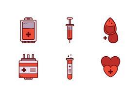 Vetor de ícone de unidade de sangue