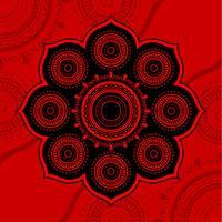 arte de henna vetor