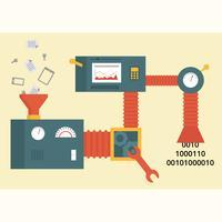 Ilustração em vetor de MIning de dados