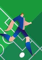 Ilustração do vetor de jogador de futebol da Copa do mundo de Islândia