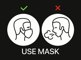 use banner de máscara. campanha de proteção contra coronavírus vetor