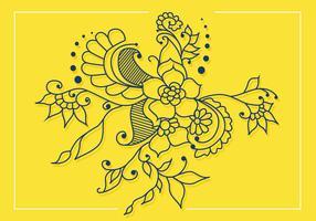 desenho de vetor de arte henna