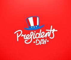 cartão do dia dos presidentes. conceito de vetor