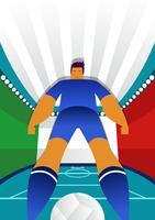 Ilustração do vetor de jogadores de futebol da Copa do mundo de Itália