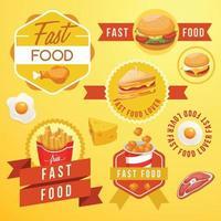 conjunto de modelos de design saboroso de fast food vetor