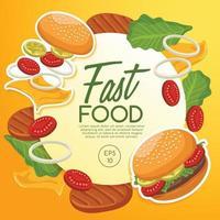modelo de design saboroso de fast food vetor