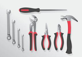 Pacote de vetores de ferramentas realistas