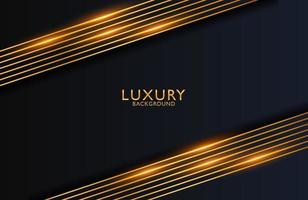 fundo elegante luxuoso com composição de linhas douradas e efeito de brilho. layout de apresentação de negócios vetor