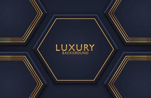 decoração realista de luxo 3d abstrata texturizada com padrão de linhas douradas. Pano de fundo 3D, convite, modelo de layout de capa. vetor